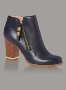Premium Leather Ankle Boots