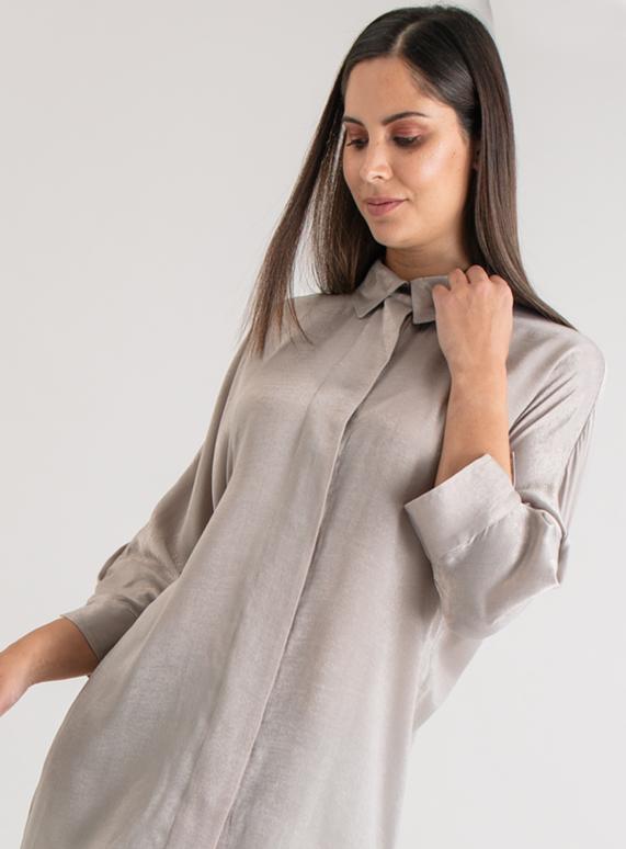 a617d5006ec Womens Premium Natural Button Back Satin Tunic | Tu clothing