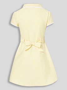 Online Exclusive Yellow Plus Fit Gingham Dress (3-12 years)