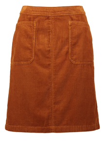 Online Exclusive Tan Corduroy Skirt