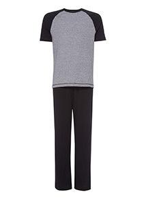 Black T-Shirt and Trousers Pyjama Set