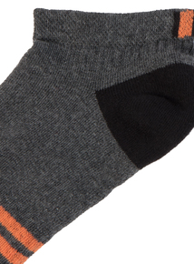 5 Pack Black Sports Trainer Socks
