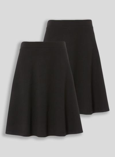 998c1a911b7 Kids Black 2 Pack Jersey Skater Skirt (10-16 years)