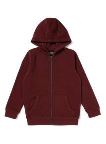 Burgundy Zip Through Hoody (3-14 years)