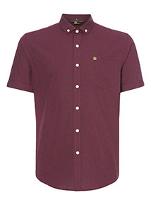 Admiral Dark Red Gingham Shirt