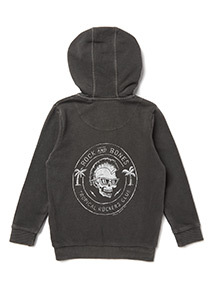Charcoal Acid Wash Zip Through Hoody (3-14 years)