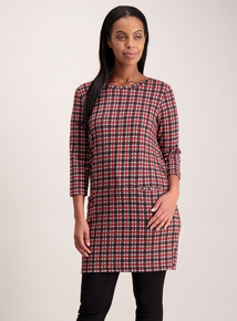 Online Only Multicoloured Brushed Check Shift Dress