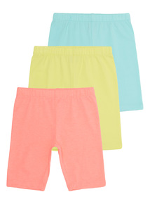 Plain Cycle Shorts 3 Pack (9 months-5 years)