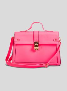 8797d68a20f70 Pink Neon Handheld Box Bag