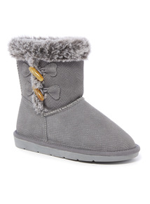 Textured Toggle Boots (6 Infant - 4)