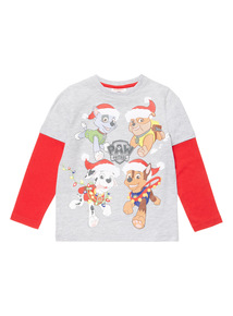 Multicoloured Christmas Paw Patrol Tee (9 months-6 years)