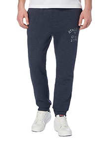 Navy Fabric Interest Joggers