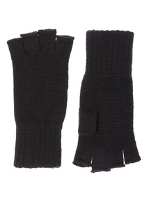 Black Fingerless Glove