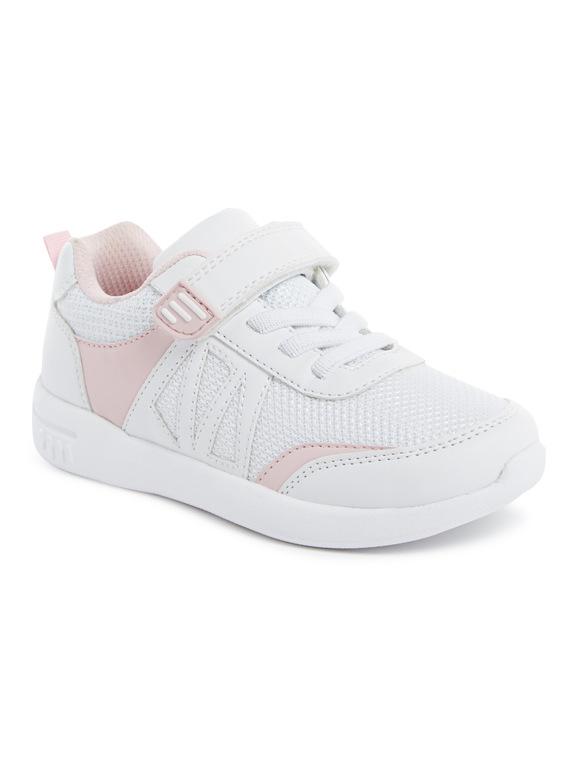 Kids White Glitter Mesh Trainers (6 Infant-4 Child)  196a7f06591a