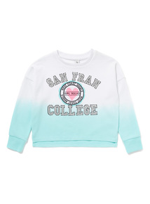 Multicoloured Ombre Badge Sweat Top (3-14 years)