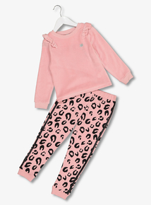 Pink Velour Sweatshirt & Joggers Set (9 months - 6 years)