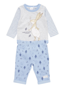 Grey Guess How Much I Love You Bodysuit and Jogger Set (0-24 months)