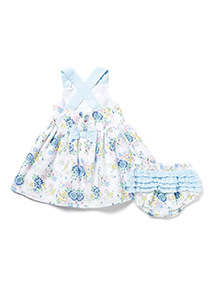 Multicoloured Floral Dress and Knickers Set (0-24 months)