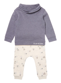 Navy Two Piece Sweat & Joggers Set (0-24 months)