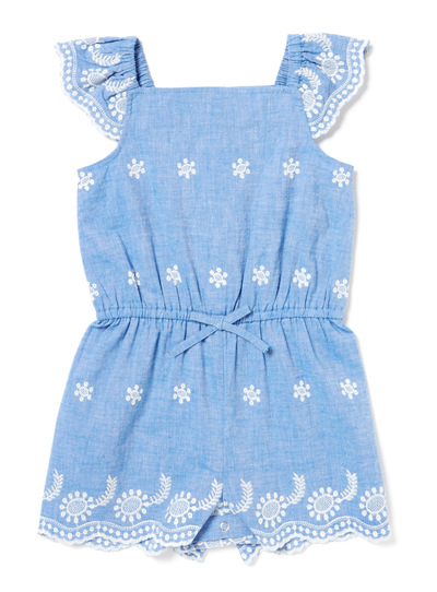 Mid-Denim Chambray Playsuit (9 months-6 years)