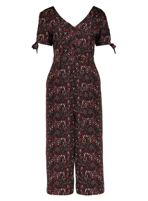 Brown Animal Print Jumpsuit