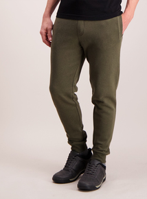 Green Drawstring Slim-Fit Joggers