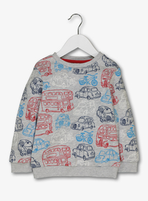 Multicoloured Transport Sweatshirt (1-6 years)