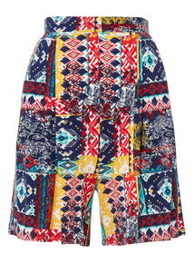 Multicoloured Patterned Culotte Shorts