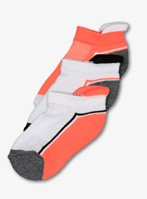Multicoloured Neon Trainer Socks 3 Pack (Infant 3-6.5)