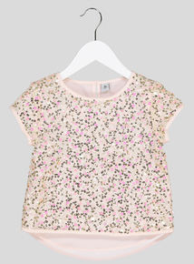 Pale Pink Sequin Top (3-14 years)