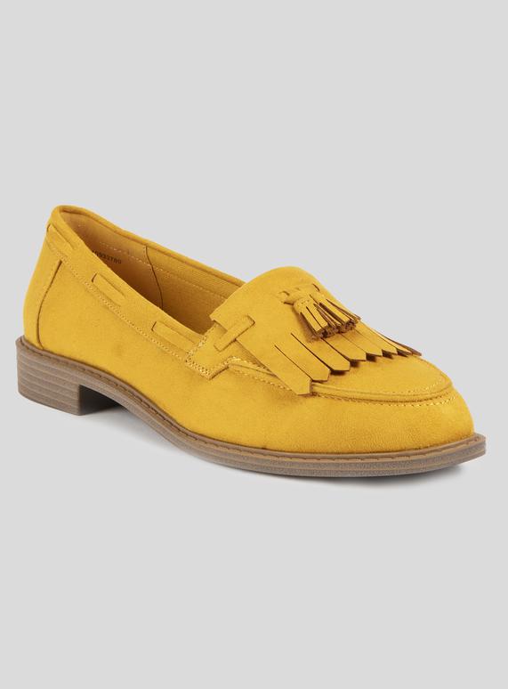 5b4cdfeda68 Womens Sole Comfort Mustard Loafer