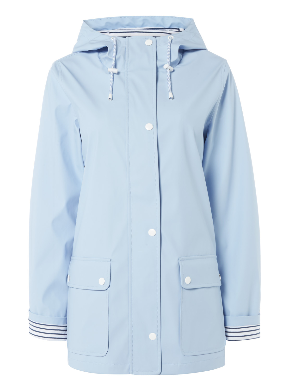 Womens Light Blue Rubber Coated Raincoat | Tu clothing
