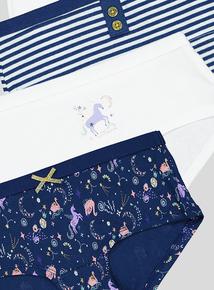 Mulitcoloured Unicorn & Swan Shorts 5 Pack (5-14 Years)