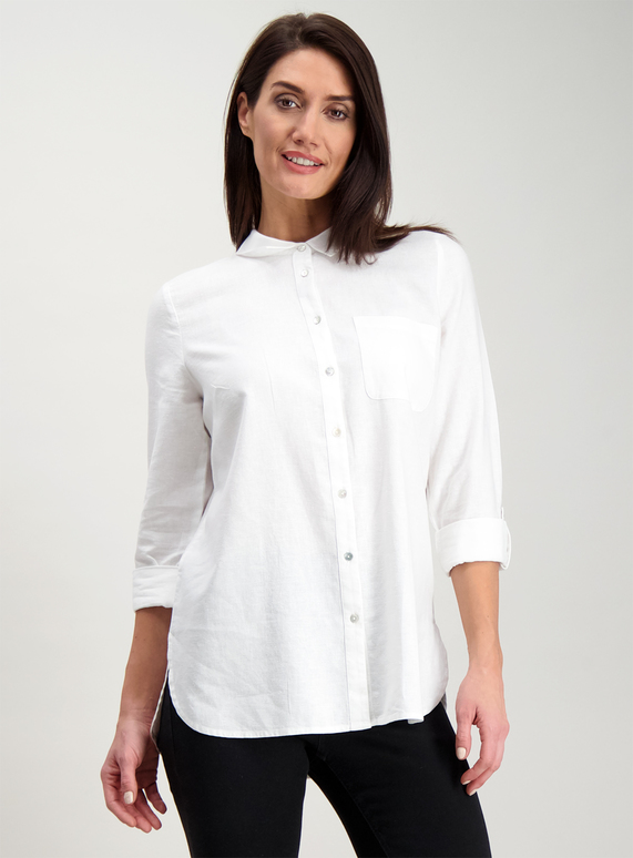0a7767d3 Womens Online Exclusive White Linen Shirt | Tu clothing