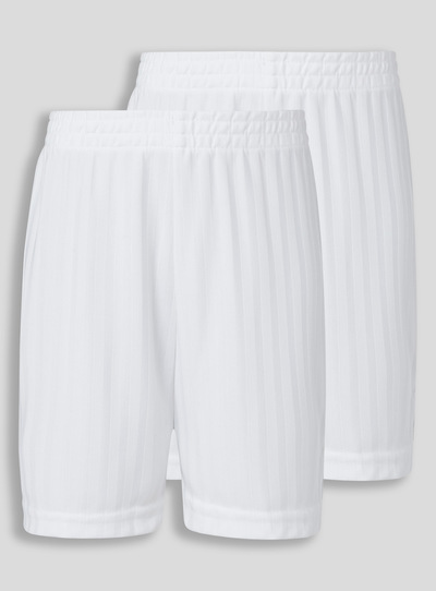 White Football Shorts 2 Pack (3 - 16 years)