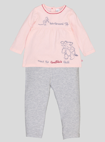 The Gruffalo Pink & Grey Long-Sleeved Top And Leggings 2 Piece Set (0-24 months)