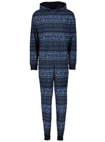 Online Exclusive Christmas Navy Fairisle All In One