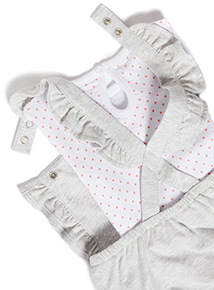 Grey Disney Minnie Mouse Bibshort Set (0-24 months)