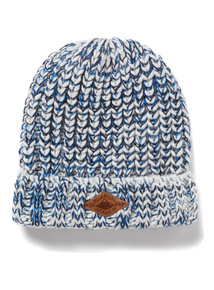 White & Blue Fleck Cable Beanie (1-12 years)