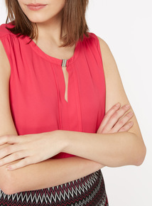 Sleeveless Shell Blouse