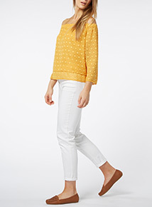 Dark Yellow Bardot Top