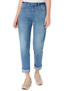 Mid Denim Girlfriend Stretch Jeans