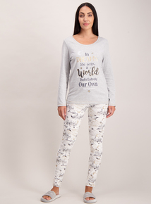 Grey & Cream Harry Potter Logo Pyjamas