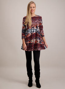 Multicoloured Floral Print Tunic