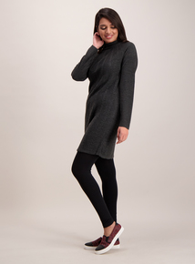 Online Exclusive Grey Soft Touch Cable Swing Tunic