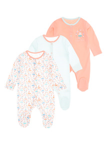 Ahoy There Sleepsuits 3 Pack (0 - 24 months)