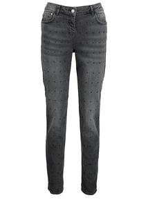 Premium Grey Spot Girlfriend Fit Jeans