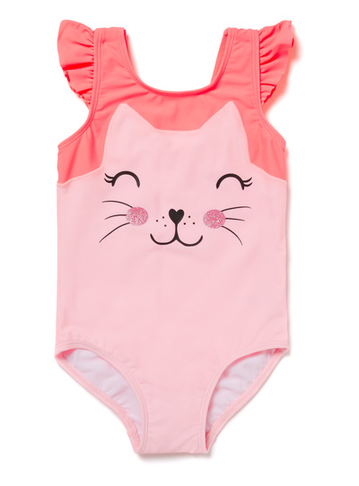 Pink Cat Swimming Costume (9 months-6 years)