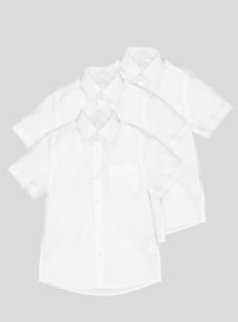 Unisex Short Sleeve Slim Fit Shirts 2 Pack (3-12 years)