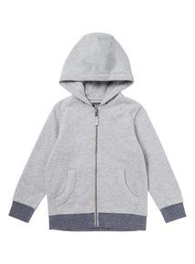 Grey Zip Through Sweat (3 - 14 years)